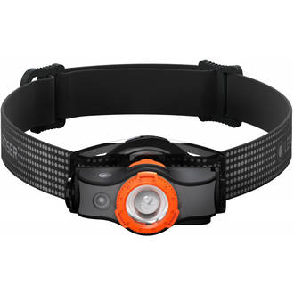 LED Lenser MH5 Rechargeable LED Headlamp 400 Lumens, Nero-Orange - 502143