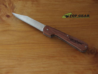 Lamson Folding Paring Knife, Walnut Handle - 33696