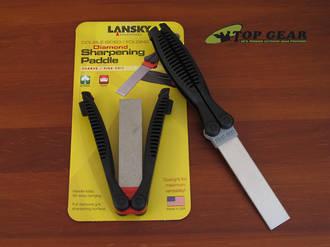 Lansky Double Sided Folding Diamond Sharpener - FP-1260 –Coarse/Fine Grit or FP-2860 Medium/Fine Grit