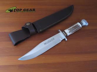 Linder Original Bowie Knife with Staghorn Handle, 20 cm - 196020
