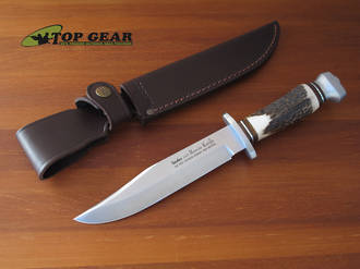 Linder Original Bowie Knife with Staghorn Handle, 17.5 cm - 196018