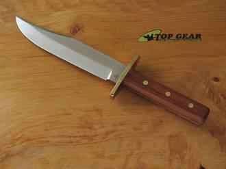 Linder Rehwappen Platterl Bowie 2 Knife, Plum Wood Handle - 186618