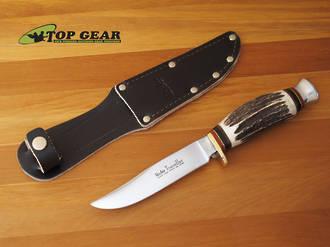 Linder Traveller Knife with Staghorn Handle - 190110