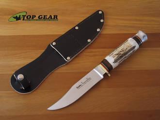 Linder Traveller Knife with Staghorn Handle - 190112
