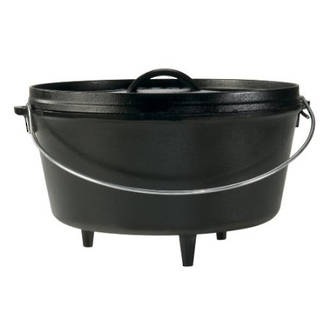Lodge Cast Iron Cookware Camp Dutch Oven, Deep, 7.6L, – L12DCO3