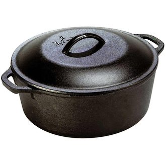 Lodge Pre-Seasoned Cast Iron Dutch Oven with Loop Handle 26 cm 4.7L - L8DOL3