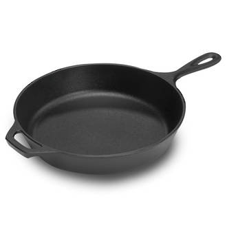 "Lodge Cast Iron Cookware 13 1/4"" Pre-Seasoned Cast Iron Skillet - L12SK3"