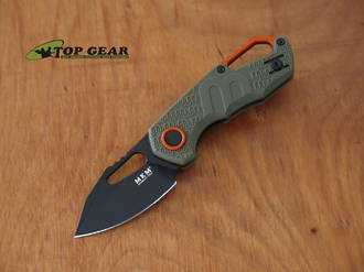 MKM Isonso Linerlock Pocket Knife, N690 Stainless Steel, Clip-Point, Olive Green Handle - MK FX03-3PGO