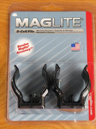 Maglite D-Cell Torch Mounting Brackets - ASXD026