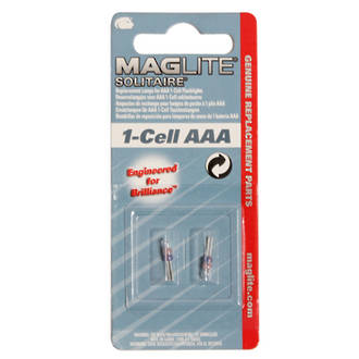 Maglite Replacement Bulb 1 AAA Cell Flashlight (2 Pack)