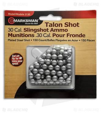 Marksman .30 Cal Steel Hunting Shot for Slingshot - 150 Qty 3130