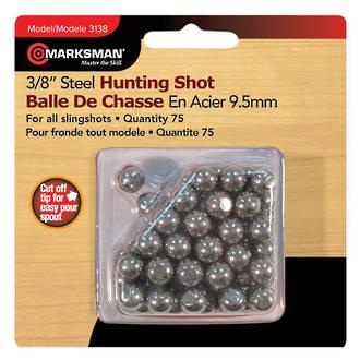 """Marksman 3/8"""" Steel Hunting Shot for Slingshot - 75 Qty 3138"""