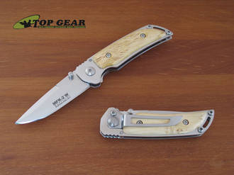 Marttiini MFK-2W Folding Pocket Knife with Curly Birch Handle - 910111