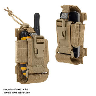 Maxpedition CP-L Radio Cell Phone and Walkie Talkie Holder, Khaki - 0102K