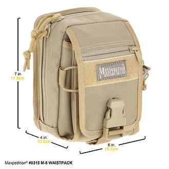 Maxpedition M-5 Waistpack, Khaki - 0315K