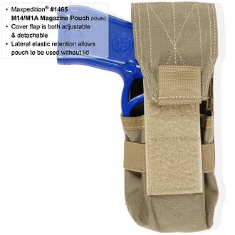 Maxpedition M14/M1A Magazine Pouch - Khaki 1465K