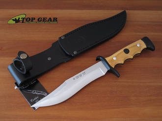 Miguel Nieto Linea Cetreria Bowie Knife with Olive Wood Handle - 2402