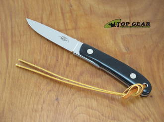 Moki Banff Fixed Blade Knife, VG-10 Stainless Steel, Black Linen Micarta Handles - MK1110