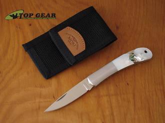 Moki Glory Arrow Pocket Knife with Abalone and Mother of Pearl Handle - MK-101EG
