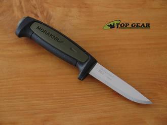 Mora Basic 511 Fixed Blade Knife MG, Carbon Steel - Black/Green 22107