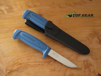 Mora Basic 546 Fixed Blade Knife MG, Stainless Steel, Blue - 01504