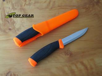 Mora Companion Bushcraft Knife, Stainless Steel, Safety Orange - 010081