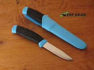 Mora Companion Bushcraft Knife, Stainless Steel, Blue - 013426