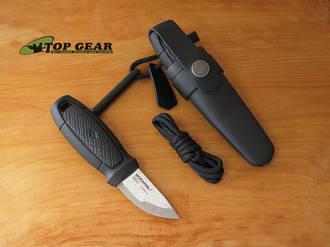 Mora Eldris Neck Knife with Fire Starter Kit, Black - 12629