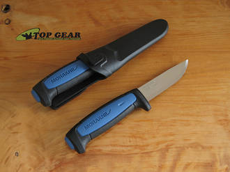 Mora Pro S Allround Fixed Blade Knife, Stainless Steel, Blue Handle - 015062
