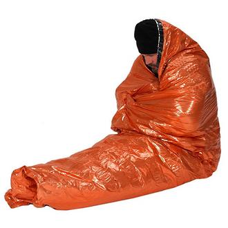 NDUR Emergency Survival Blanket, Orange/Silver - 61425