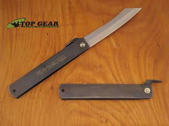 Nagao Higonokami Carbon Steel Pocket Knife, Black Handle - HIGO08BL