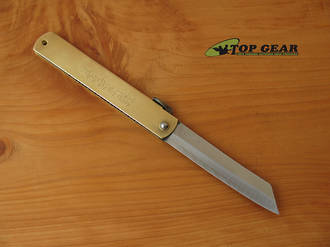 """Nagao Higonokami 3.75"""" Brass Pocket Knife - HIGO 11"""