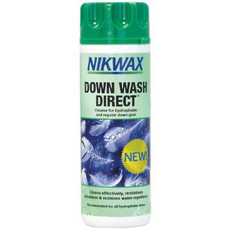 Nikwax Down Wash Direct Technical Cleaner for Hydrophobic and Regular Down Gear - 1K1-NZL-300ml