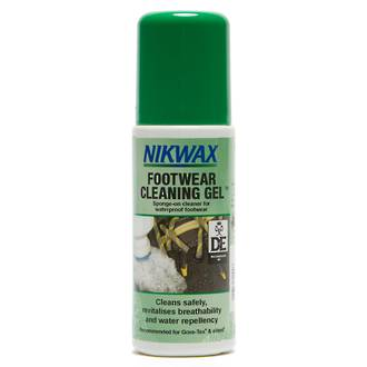 Nikwax Footwear Cleaning Gel, Sponge-On Cleaner for Waterproof Footwear, 125ml - 821-NZL