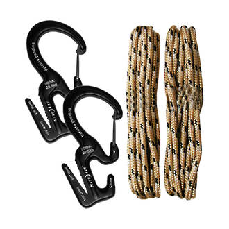 Nite Ize Figure9 Small Carabiner Rope Tightener Rope - 2-Pack C9S-03-TP01