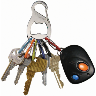 Nite Ize S-Biner Keyrack + Keyring - Stainless Steel KRB-03-11