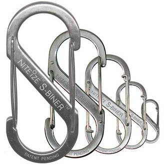 Nite Ize S-Biner Stainless Steel - #1 # 2 # 3 # 4 or # 5