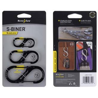 Nite Ize S-Biner Slidelock Clip Hooks 3-Pack - LSBC-01-R6