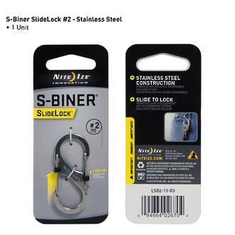 Nite Ize S-Biner Slidelock # 2 - Stainless Steel LSB2-11-R3