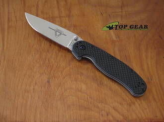 Ontario RAT II Folding Knife, AUS-8 Stainless Steel, Carbon Fiber-G10 Laminate - 8836