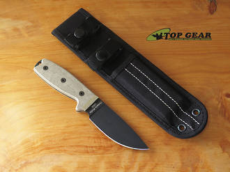 Ontario RAT-3 Knife with Nylon Sheath, 1095 High Carbon Steel, Razor Edge - 08665