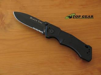 Ontario King Cutlery Black Tac Folding Knife - 8793