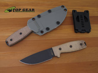 Ontario RAT-3 Razor Edge Knife with Tan Micarta Handle - 8632
