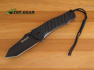 Ontario John Pardue Utilitac II Folding Tanto Knife, AUS-8 Stainless Steel - O8914