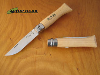 Opinel Beechwood Pocket Knife No. 6 - Stainless