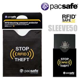 Pacsafe RFIDSleeve 50 RFID-blocking Passport Protector Sleeve - 10370100