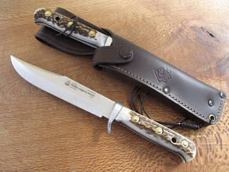 Puma Bowie Hunting Knife with Staghorn Handle - 116396