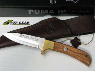 Puma IP Silverlion Hunting Knife with Leather Sheath - 800215