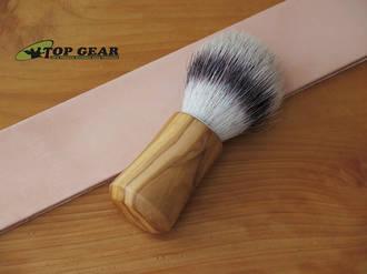 Razolution Shaving Brush with Olive Wood Handle - 86233