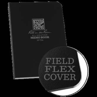 "Rite In The Rain All-Weather Field Flex Memo Book,  3 1/2"" x 5"" - Black 754"